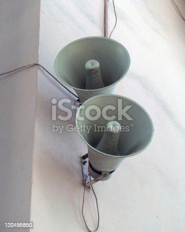 istock Two loudspeakers 120495850