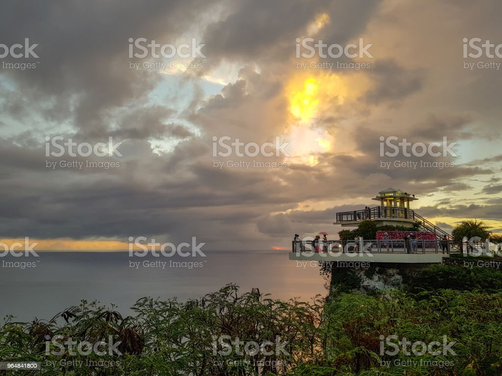 two lovers point, beautiful sunset. Guam in USA royalty-free stock photo