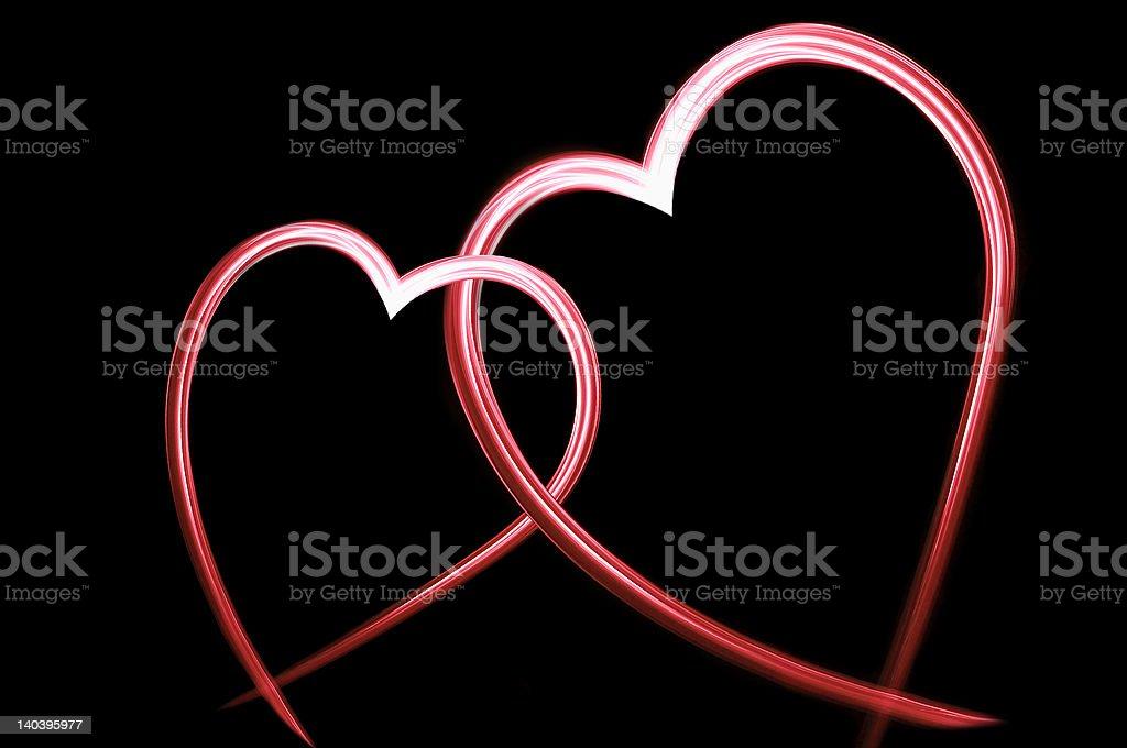 Two loving hearts royalty-free stock photo