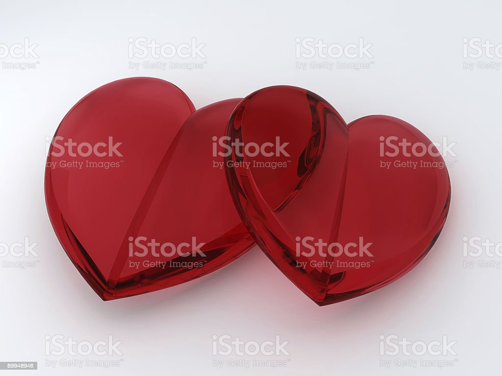 Two Loving hearts stock photo