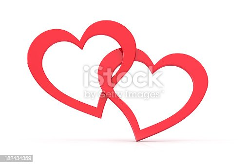 istock Two loving hearts together forever 182434359