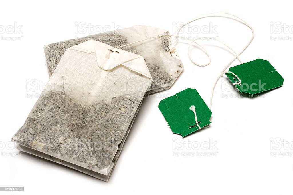 Two Lying Teabags stock photo