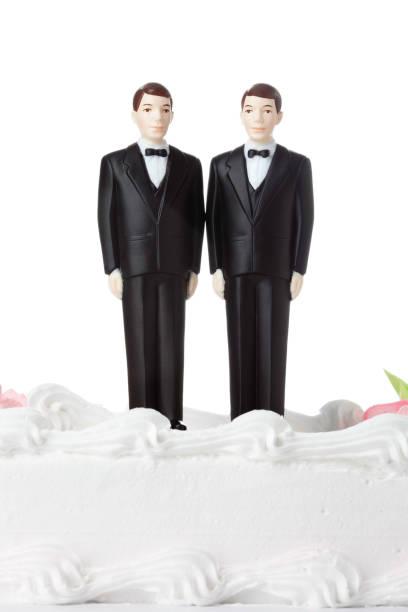 gay hochzeit - tortenfiguren stock-fotos und bilder