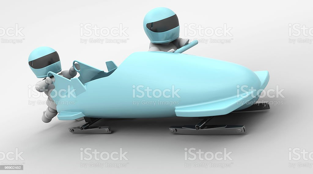 two man bobsleigh stock photo