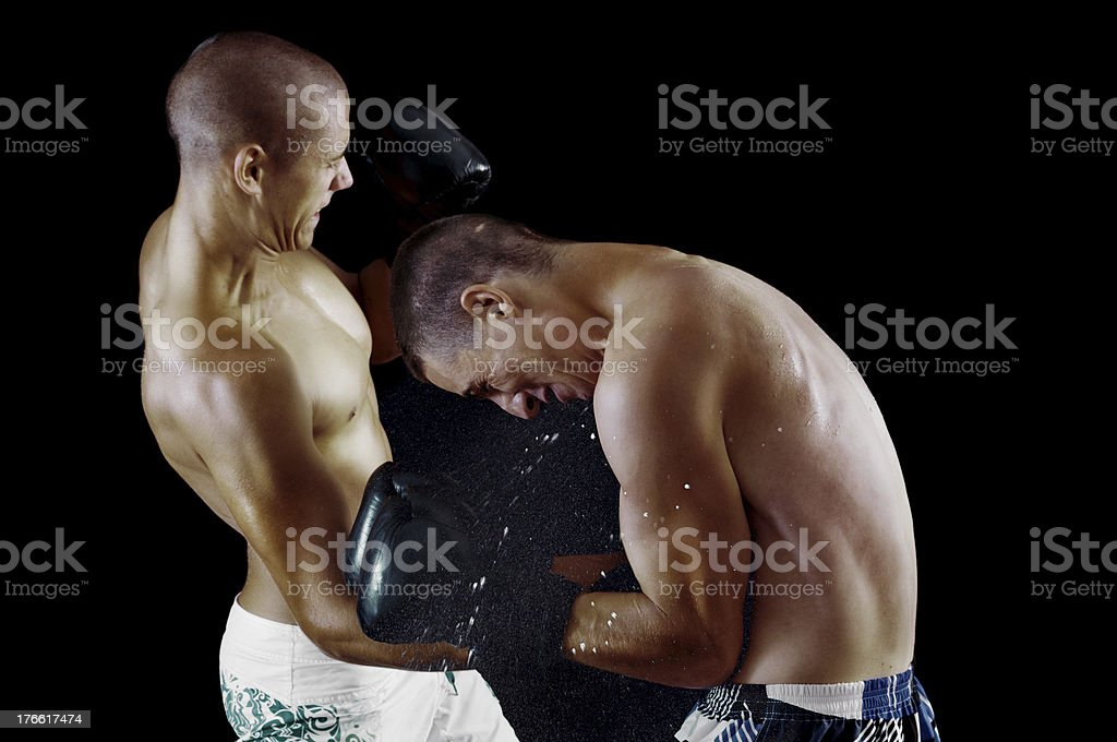 Two man boxing royalty-free stock photo