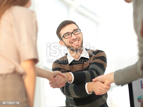 istock Two managers making agreement 627353116