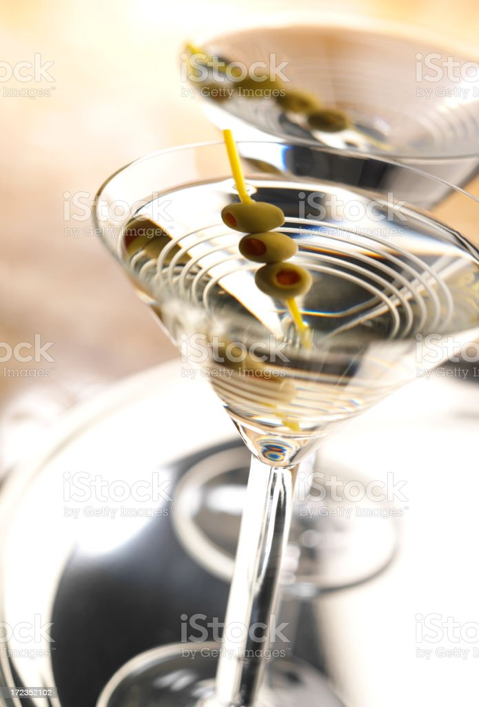 Two Martinis royalty-free stock photo
