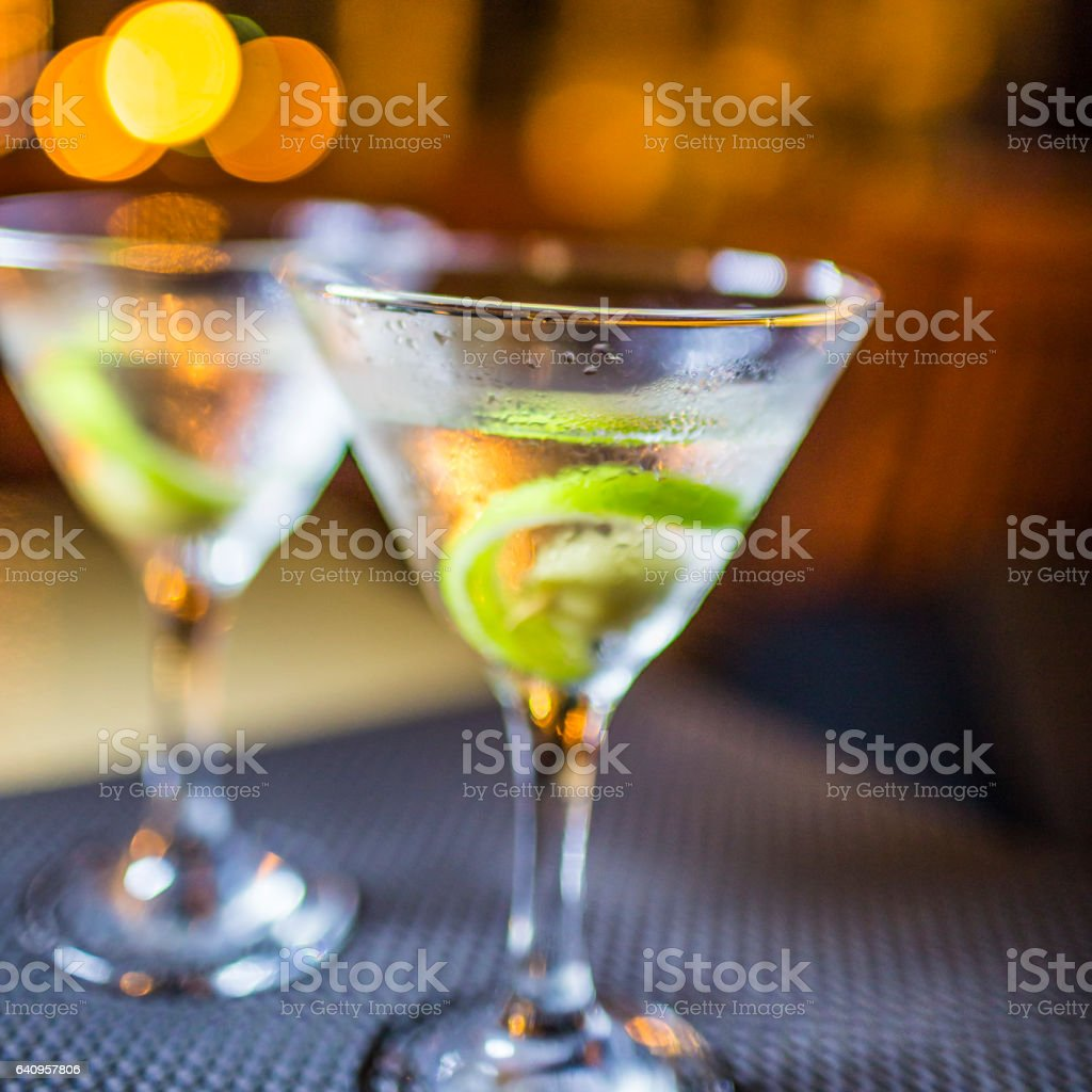 Two martinis stock photo