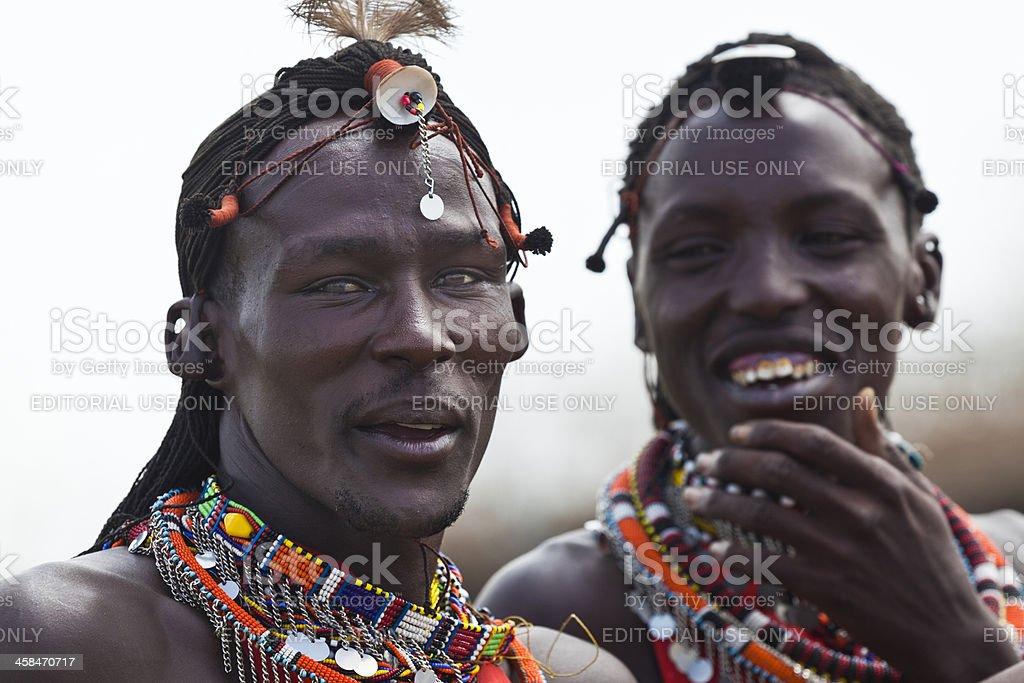 Zwei Masai Männer in eine humorvolle Moment – Foto