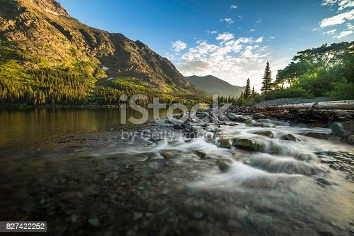 Lake, Dawn, Summer, Sunrise - Dawn, Two Medicine Lake