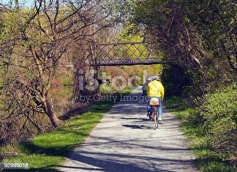 istock Two Men Bicycling 92990018