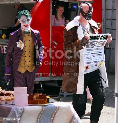 Jocker and Bane, comic con, Old Fort Quarter Festival 2019, Portlaoise, Ireland