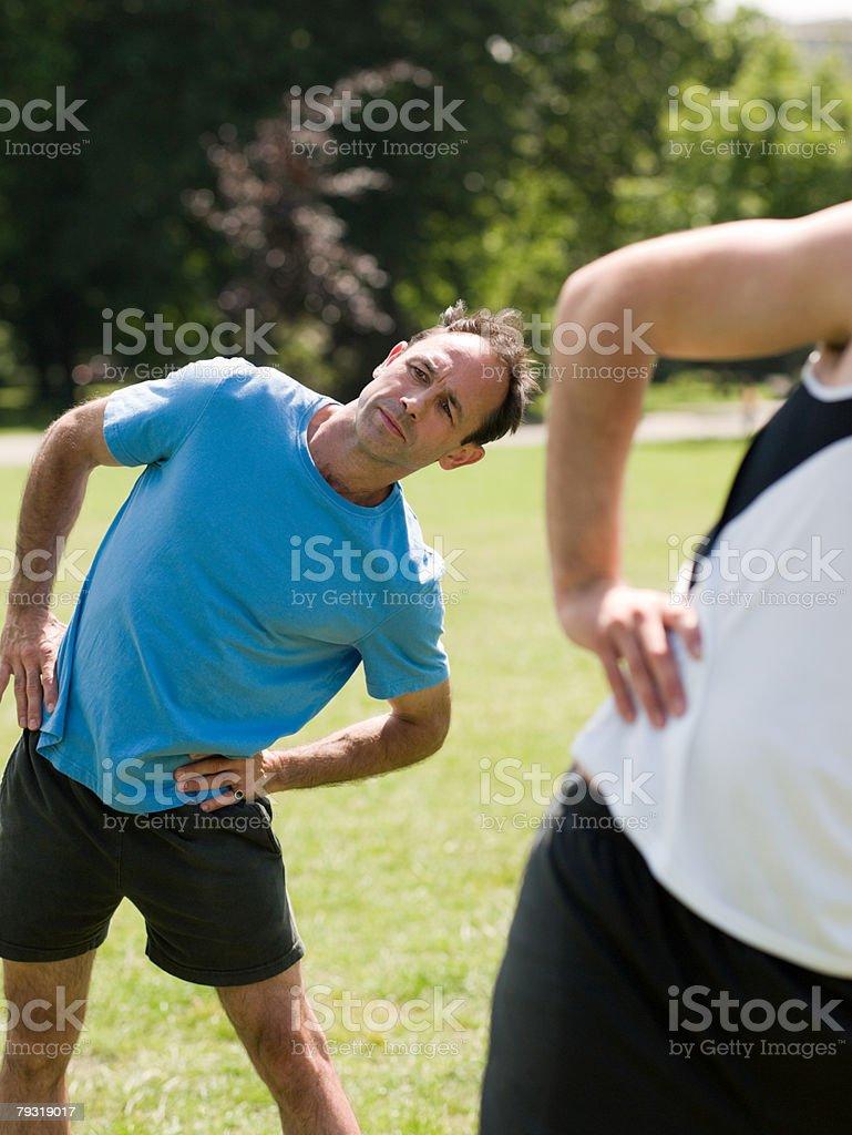 Two men exercising 免版稅 stock photo
