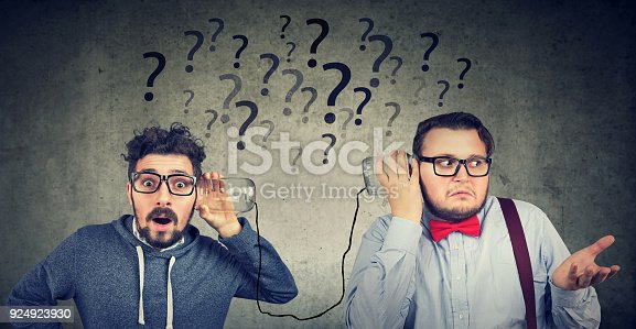 istock Two men having troubled communication 924923930