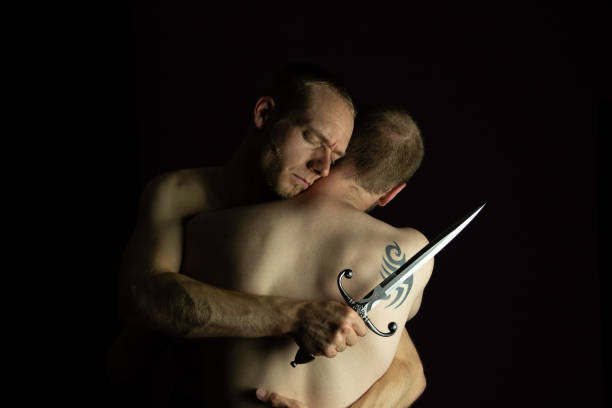 zwei Männer in einem intimen moment – Foto