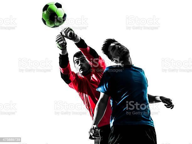 Two men soccer players goalkeeper punching heading ball competition picture id475889739?b=1&k=6&m=475889739&s=612x612&h=qln0tzr z0pbjuv10gvbemgugcajqhqzgadmxjwrgps=