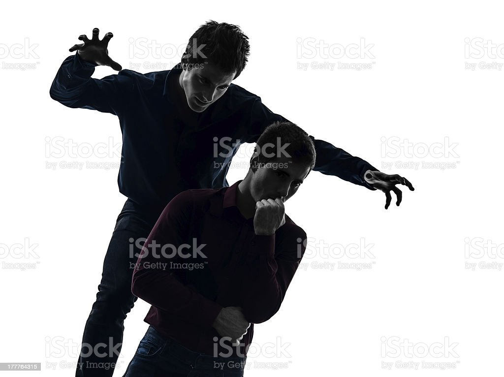 two  men twin brother friends domination schyzophrenia concept s royalty-free stock photo