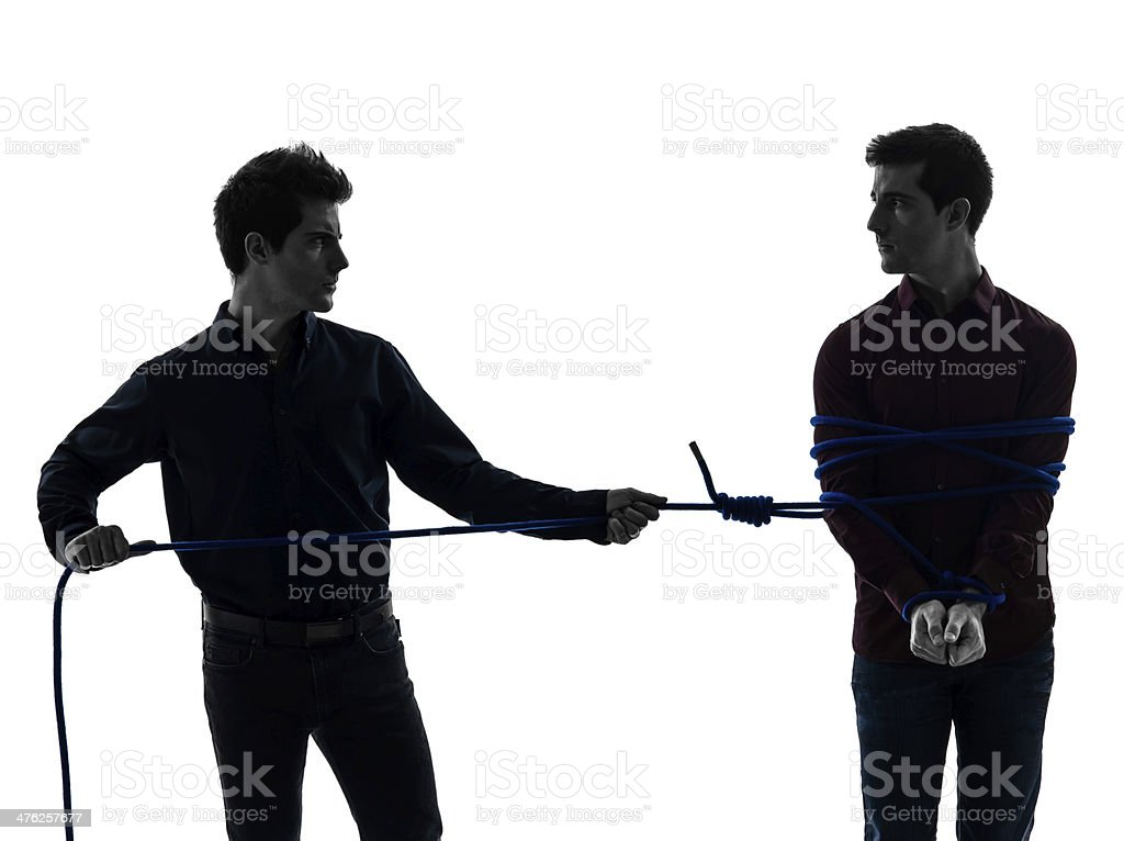 two  men twin brother friends silhouette royalty-free stock photo