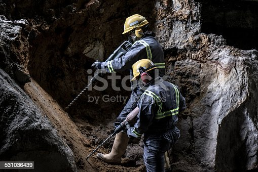 istock Two men, two drills 531036439