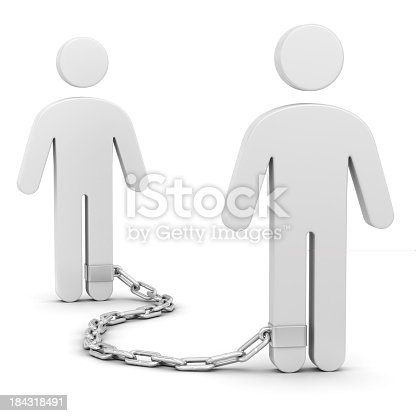 Two men with shackles