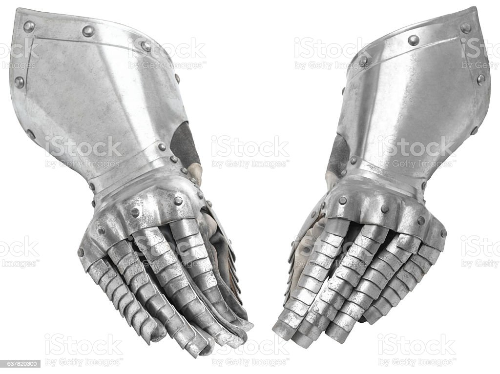 Two metal knight's glove. - foto de stock