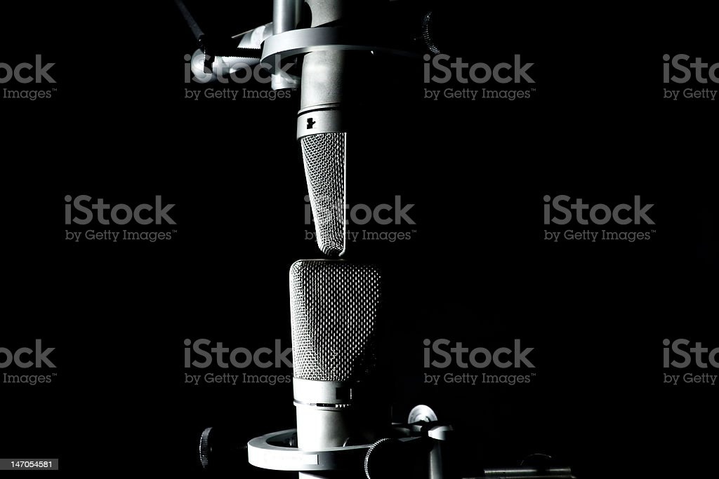 Two Mics royalty-free stock photo