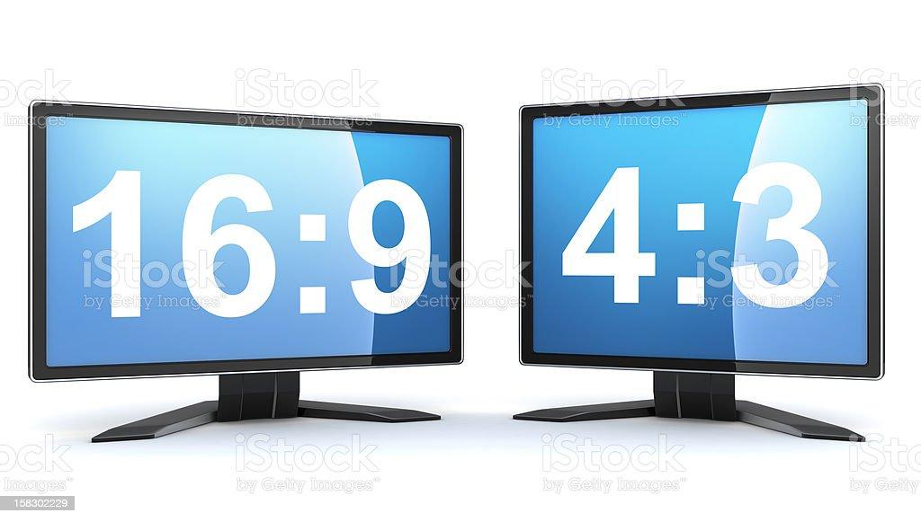 Two monitors stock photo