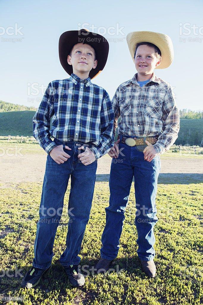 Two Montana Cowboys royalty-free stock photo