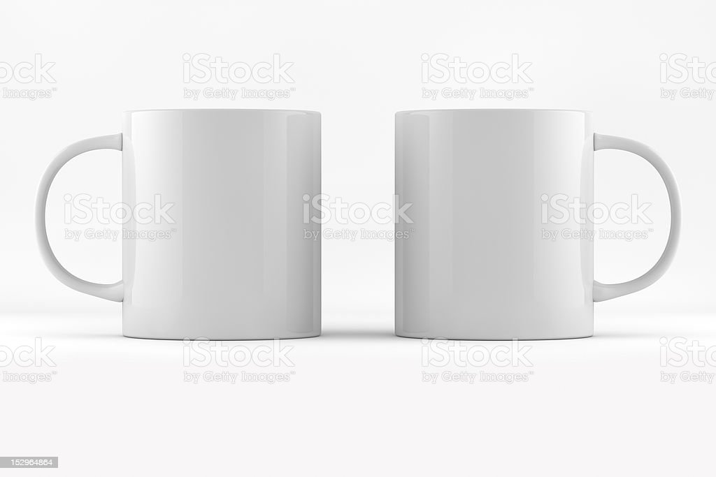 Two Mug Ready For Branding royalty-free stock photo