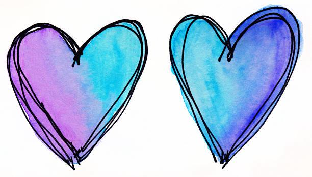 Zwei bunte Herzen der hand auf weißem Hintergrund – Foto