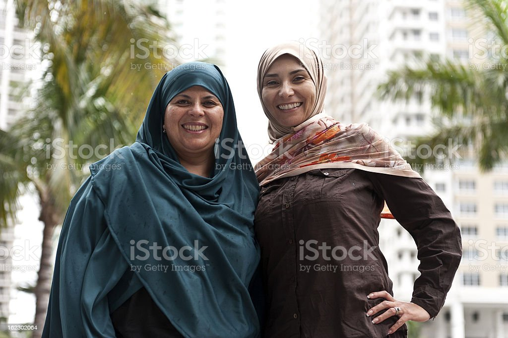 Two muslim woman royalty-free stock photo