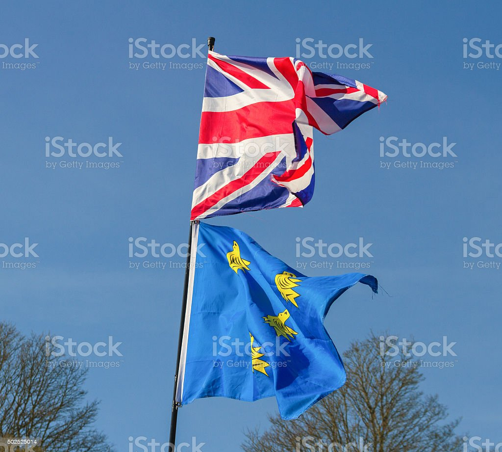 Two natural flags. stock photo