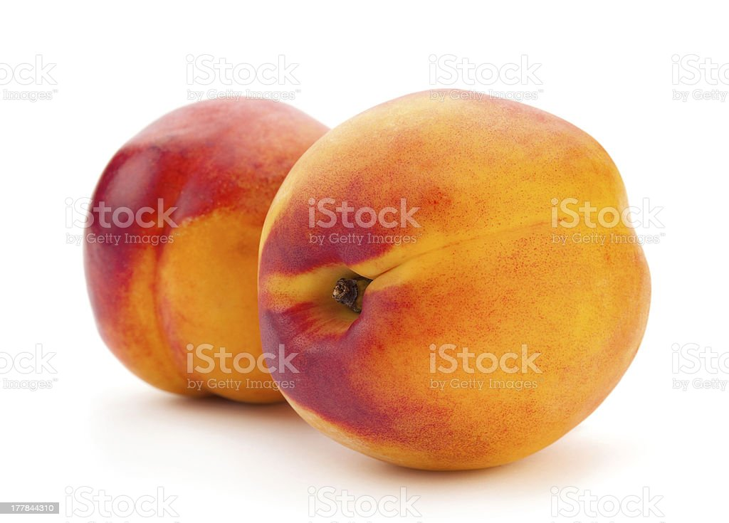 Two nectarine fruit royalty-free stock photo