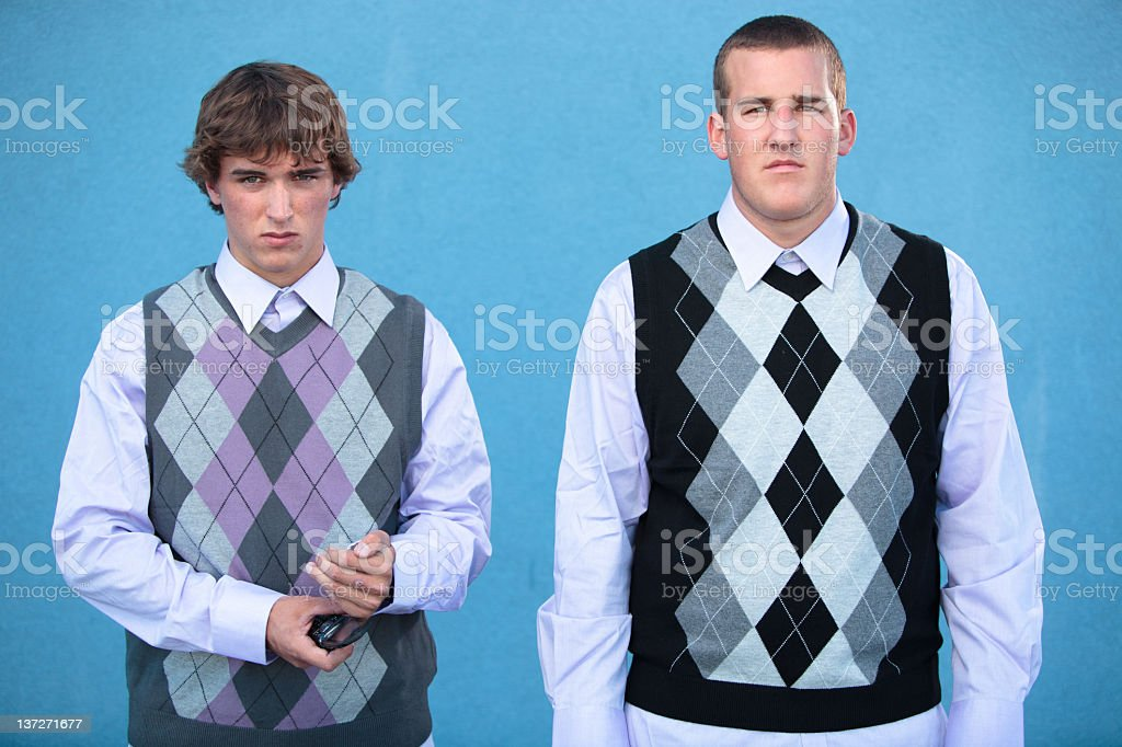 Two nerds. stock photo