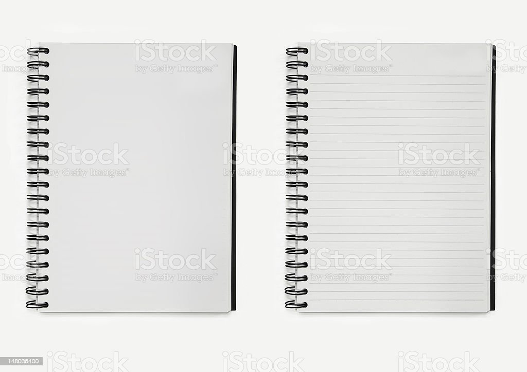 two notebooks paper spiral royalty-free stock photo