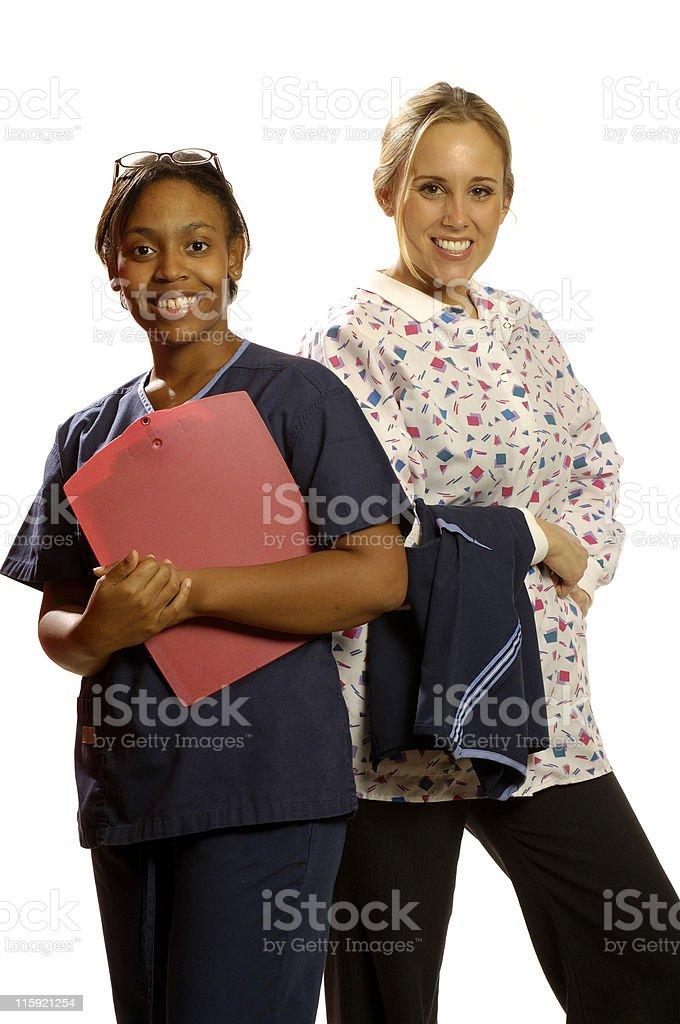 two nurses royalty-free stock photo