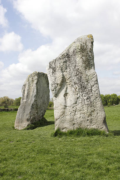 avebury stone circle wiltshire megalithic monument - whiteway stock photos and pictures