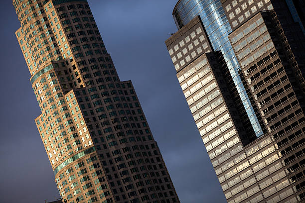 Two Office Towers in Downtown Los Angeles stock photo
