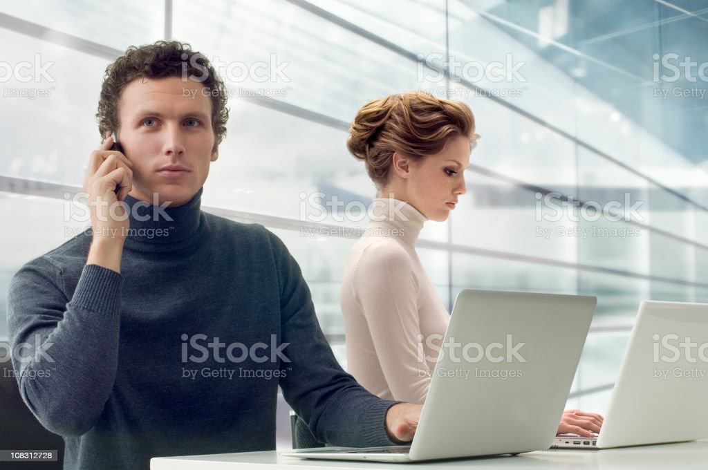 Two Officeworker royalty-free stock photo