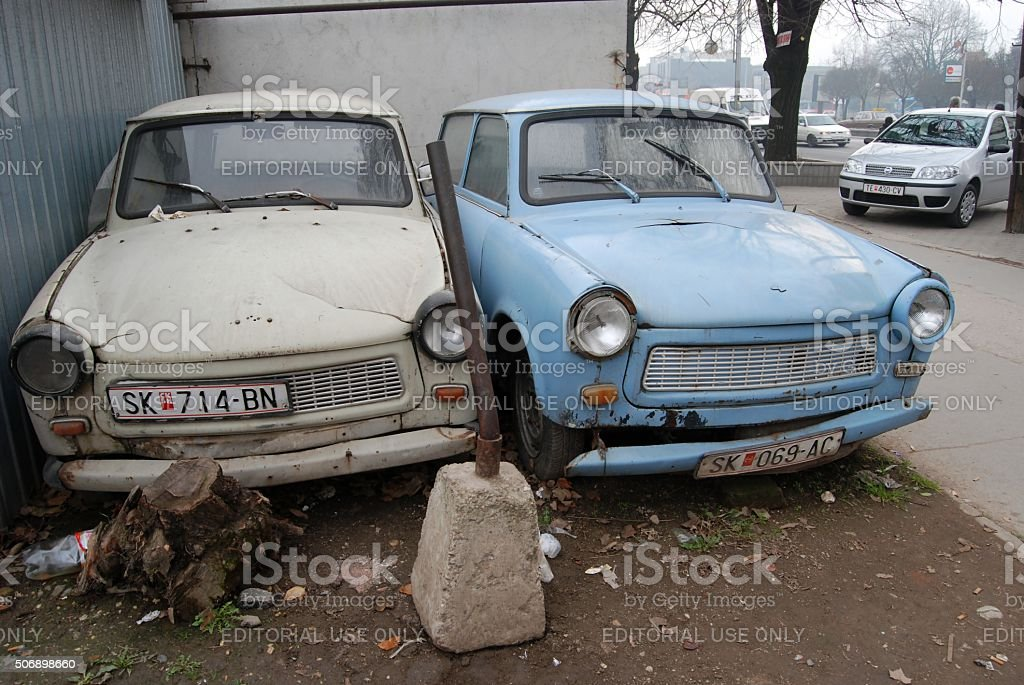 Two Old Abandoned Trabant Cars Stock Photo & More Pictures of ...