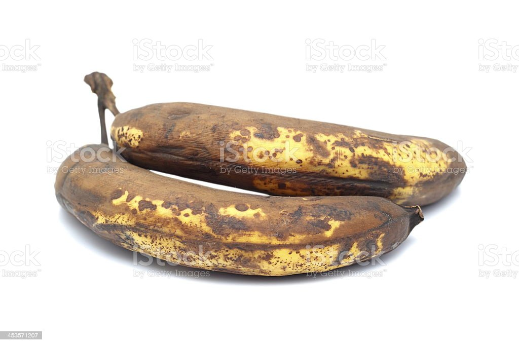 two old bananas royalty-free stock photo