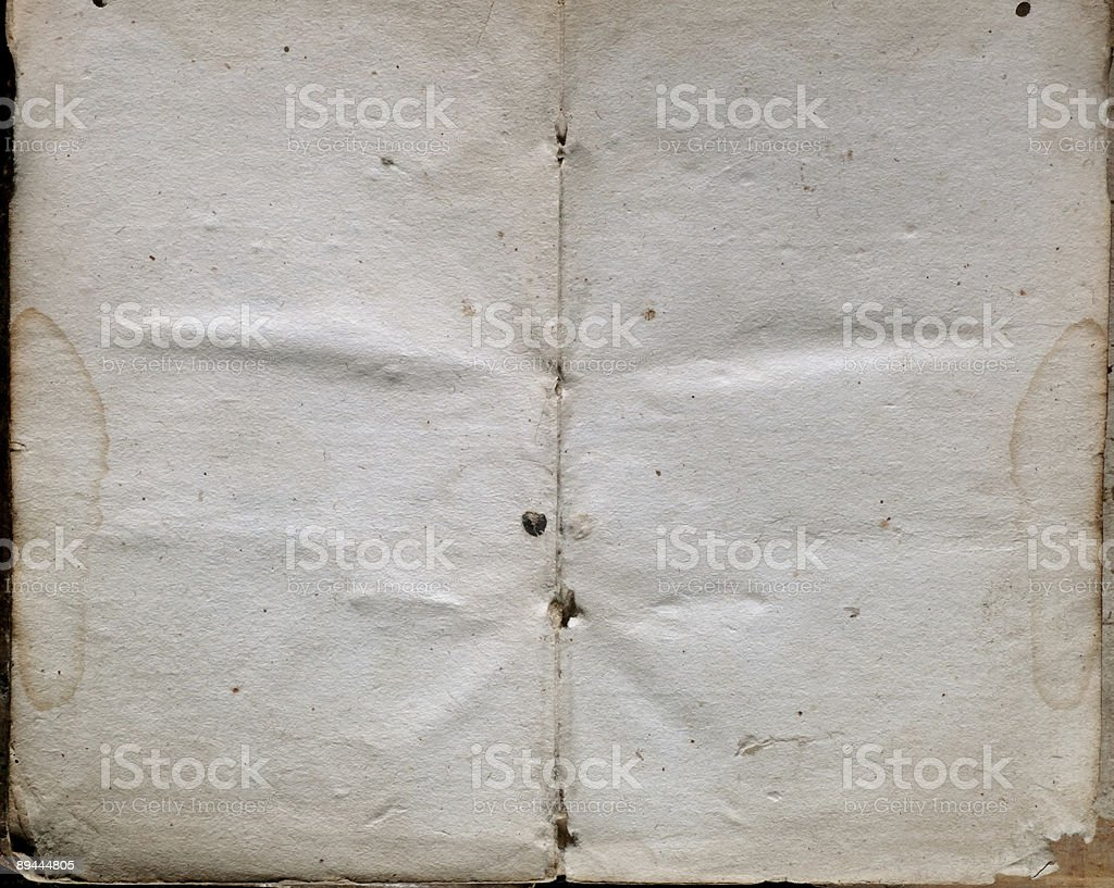 Two old blank pages royalty-free stock photo