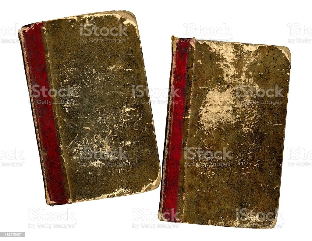 Two old books royalty-free stock photo
