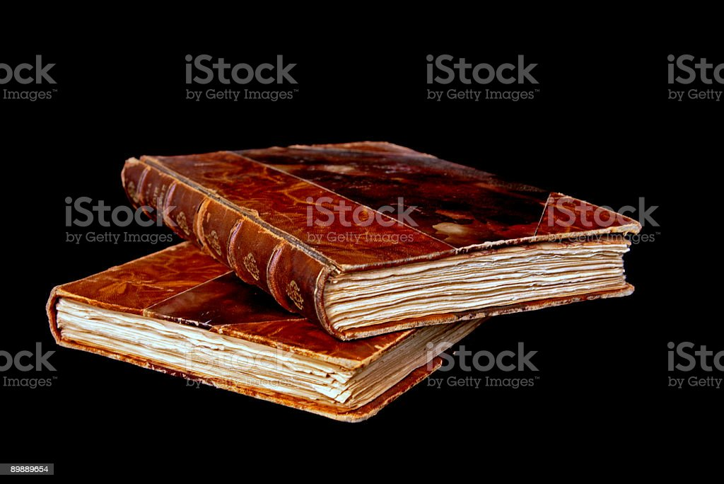 Two old books royalty free stockfoto