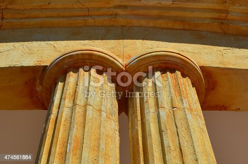 istock Two old columns 474561884