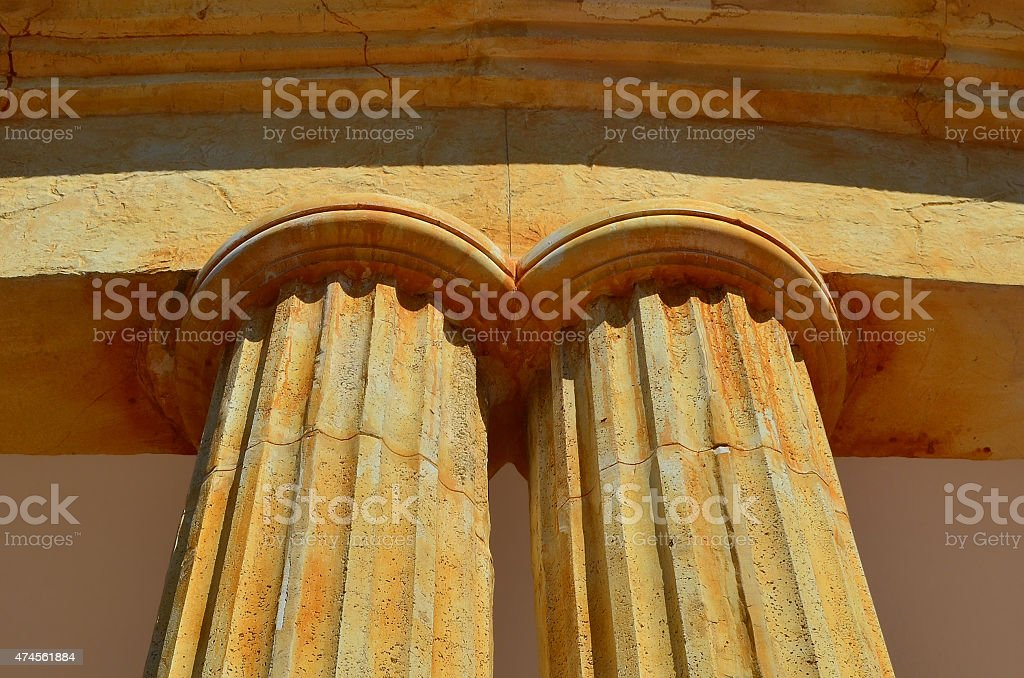 Two old columns stock photo