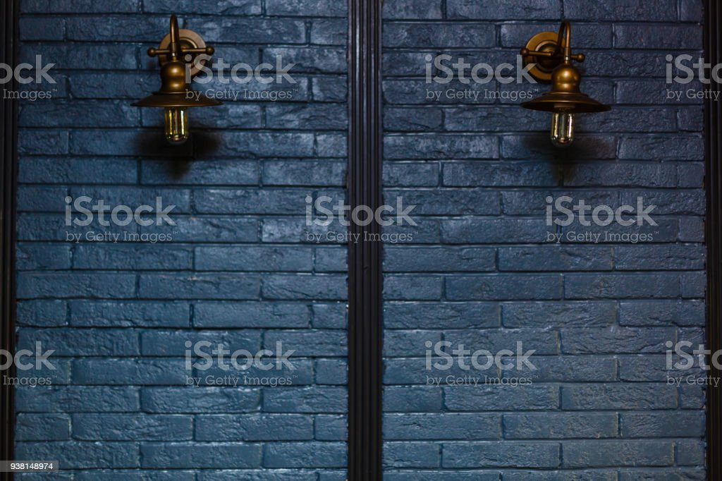 two old copper lamps stock photo