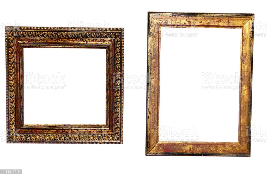 Two Old Golden Frames Isolated stock photo 184344715 | iStock