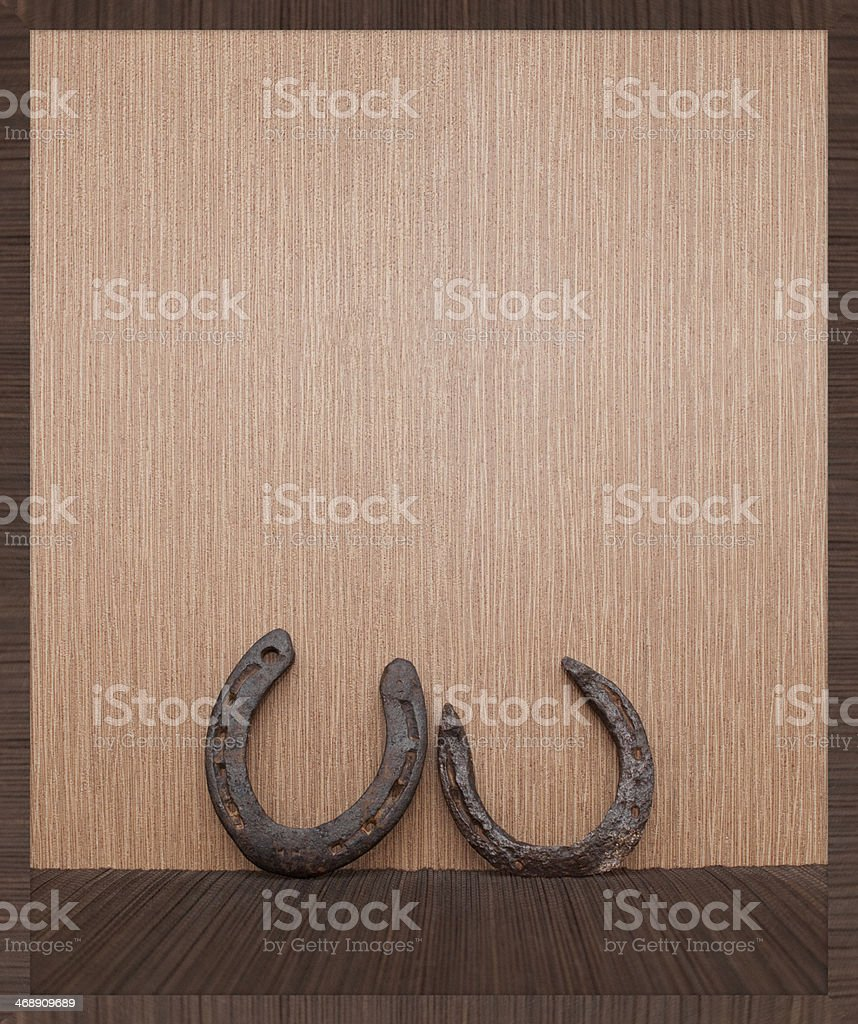 Two old horseshoes royalty-free stock photo