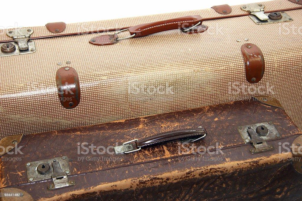 Zwei alte Koffer Lizenzfreies stock-foto